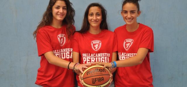 Tre giovani della Pallacanestro Perugia aggregate alla preparazione estiva di Acqua&Sapone Umbertide
