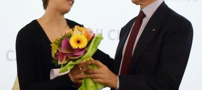 Chiara Consolini premiata dal Coni
